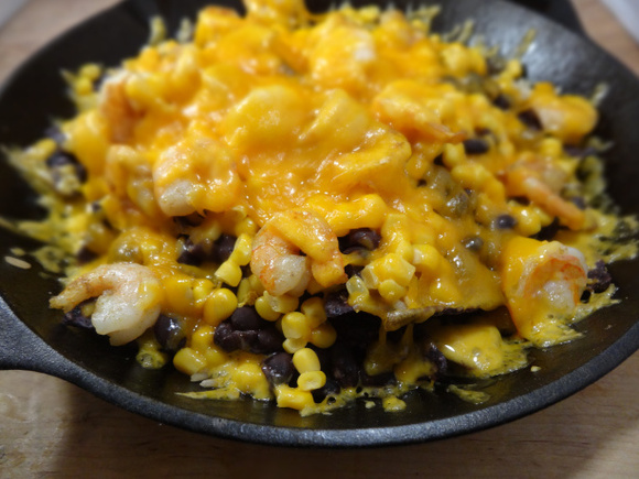 My Weekend Indulgence: Skillet Shrimp Nachos